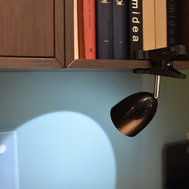 Bright Clamp Desk Lamp LED Battery Powered Clip On Bookshelf Dorm Bed Office Table For