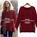 Free shipping Fashion 2016 Women New Long Sleeve Pullovers celebrity style winter Zipper knitwear Sweater Cheapest wholesale