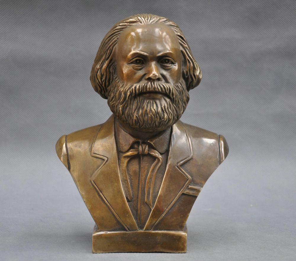Copper Brass craft 7 German Great Communist Carl Marx Bust BRASS StatueCopper Brass craft 7 German Great Communist Carl Marx Bust BRASS Statue