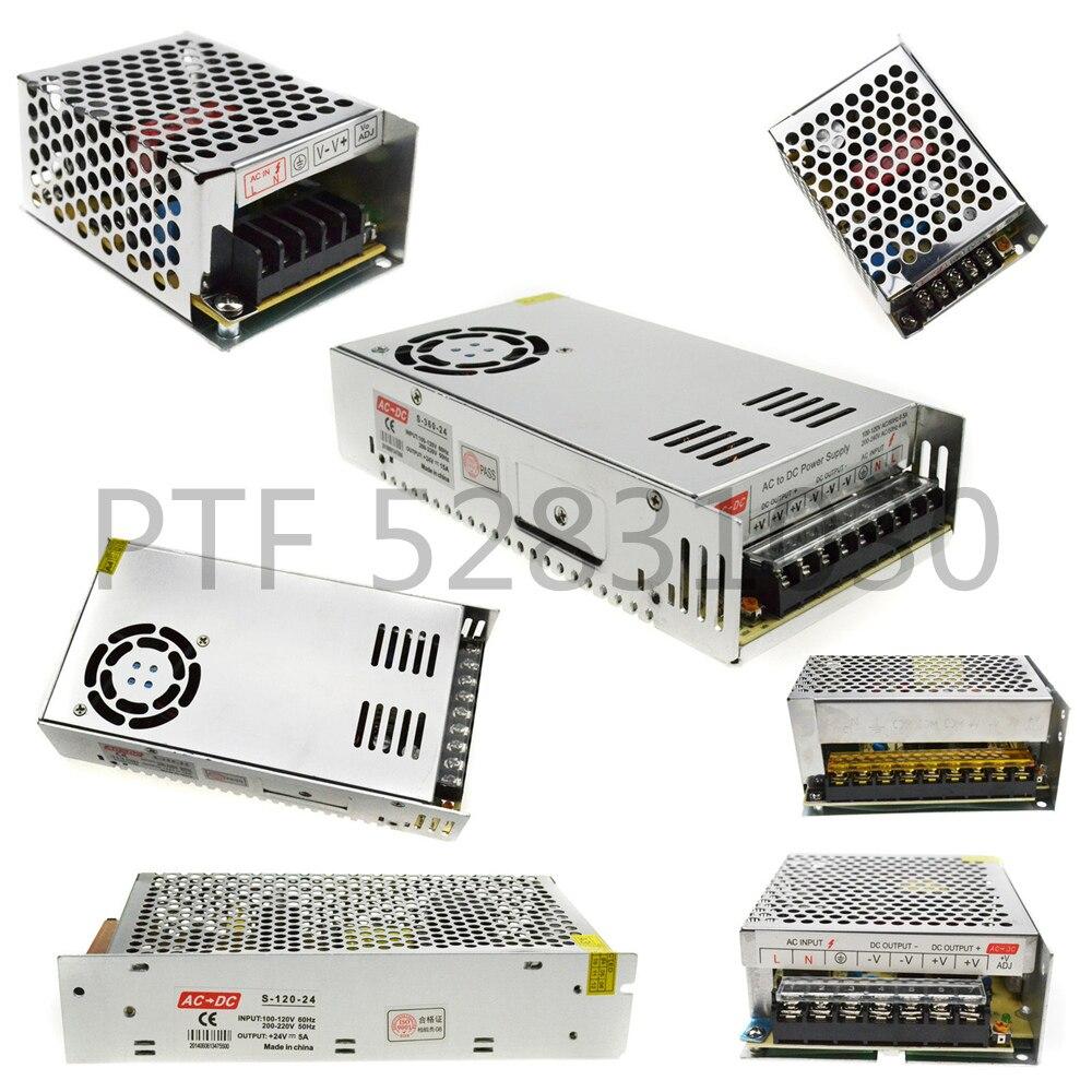 LED transformateur alimentation interrupteur adaptateur AC 110 V-220 V à DC5V 12 V 24 V 2A 3A 5A 10A 20A 30A 40A 60A pilote pour LED bande lumineuse