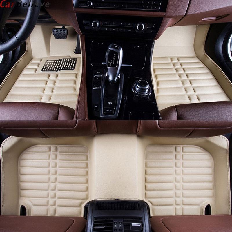 Auto Glauben Auto auto boden Fuß matte Für bmw f10 x5 e70 e53 x4 f11 x3 e83 x1 f48 e90 x6 e71 f34 e70 e30 wasserdicht zubehör