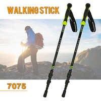 High quality Nordic Walking Poles Trek Pole Telescopic Alpenstock 7075 Aluminum Alloy Shooting Crutch Senderismo Walking Stick