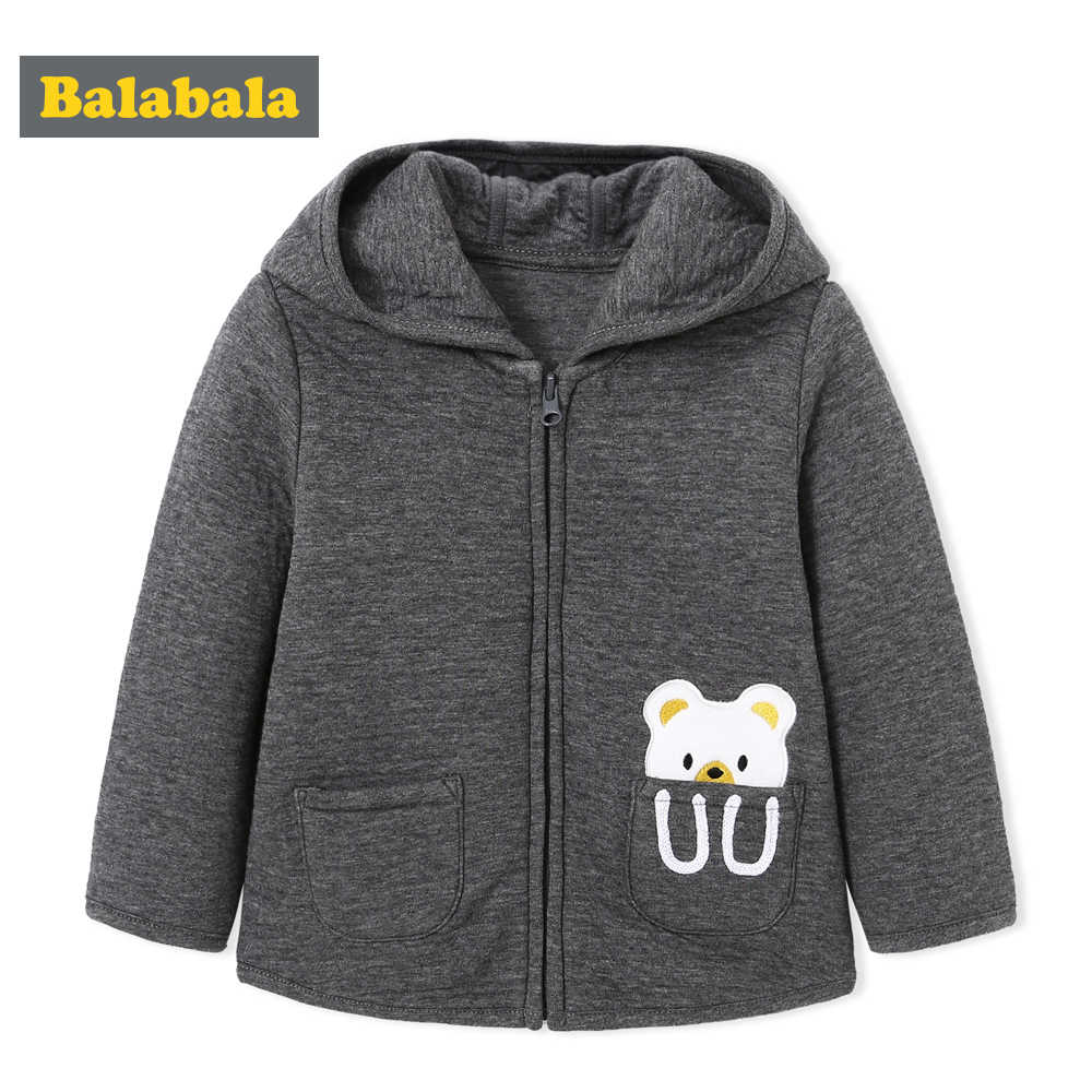 Balabala Baby Boys Jacket Autumn Winter Children Boys Infant Soft and Comfortable jackets Kids Boy Popular Wild Color Coats Fash
