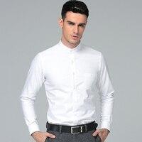 High Quality 2017 New Men's Regular Fit Shirt 100% Cotton Men Dress Shirts Men's Mandarin Collar Business Shirts Thickening