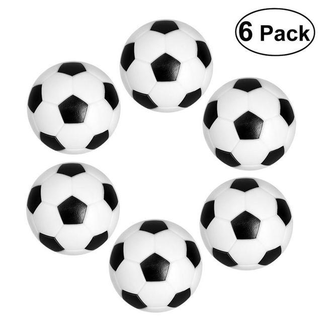 6 pcs 32mm Small Mini Table Soccer Ball Black White Fun Ball