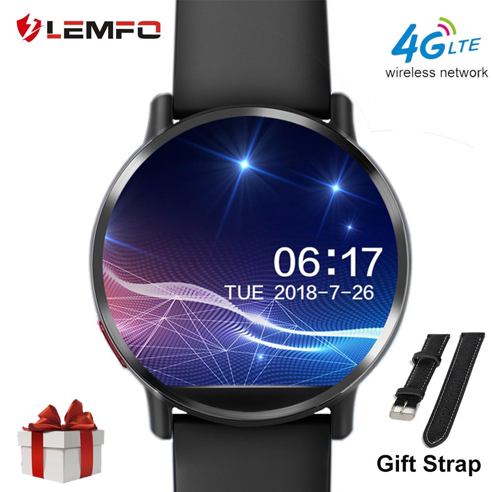 LEMFO LEMX Montre Smart Watch Android 7.1 LTE 4g Sim WIFI 2.03 pouce 8MP Caméra GPS Coeur Taux De Noël Cadeaux smartwatch pour Hommes Femmes