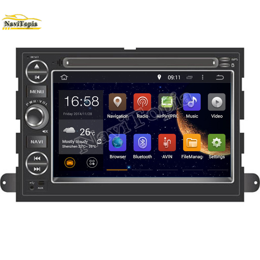Navitopia 16g android 5 1 1 car dvd player for ford mustang 2007 2009 for ford escape 2008 2009 for ford freestyle 2005 2009