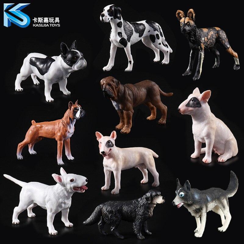 Animal Model Solid Simulation Pet Children's Toys 10 Optional Bulldog Bulldog Dog Labrador Purebred Dog Decoration