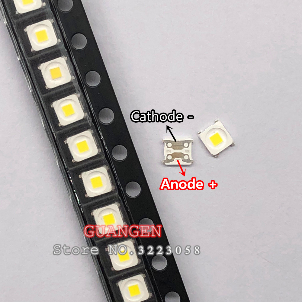 100pcs Special Repairs 3255 Inch Led Lcd Tv Backlight Illuminated Bar Smd 2828 Led Lamp Beads 3v Special 2828 For Samsung Active Components