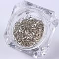 3 g/caja de Metal Lentejuelas Uñas Polvo del Polvo Brillante de Oro/Plata/Champagne Brillo de Uñas Consejos de Manicura de Uñas Decoración Del Arte