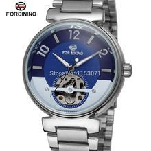 FSG8070M4S1 Forsining марка Автоматический self-ветер платье мода скелет часы для мужчин с аналоговым дисплеем подарочная коробка бесплатная доставка