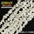 Pipoca branco Turquesa pedra Cascalho Irregular Freeform Chips Naturais contas de pedra 86 cm strand beads fazer Jóias pulseira DIY