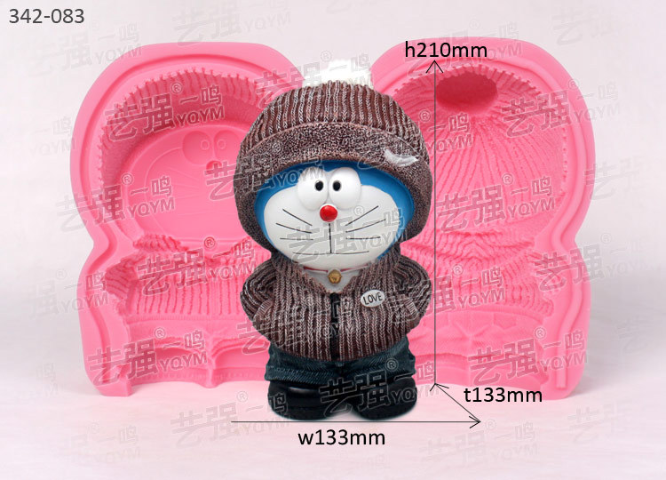 3D DIY Mousse cake mold decoration handmade clay craft mold Doraemon shape