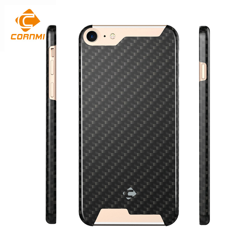 Case For iPhone 8 Cover  100% Real Carbon Fiber Pouch For iPhone 7 Housing Ultra Thin Polishing Matte Back Shell CORNMI Углеродное волокно