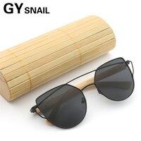 f59528f6e GY Bamboo Wooden Sunglasses Wommen Cat Eye Eyewear Cateye Wood Sun Glasses  Female Brand Designer Vintage. GY wommen óculos cateye olho de gato Sol  madeira ...