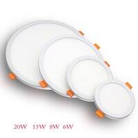 Platz/Runde LED Panel Licht 6W 8W 15W 20W LED Oberfläche Decke Downlight AC220V Runde decke Lampe Für Deroration Hause Beleuchtung|LED-Flächenleuchten|Licht & Beleuchtung -