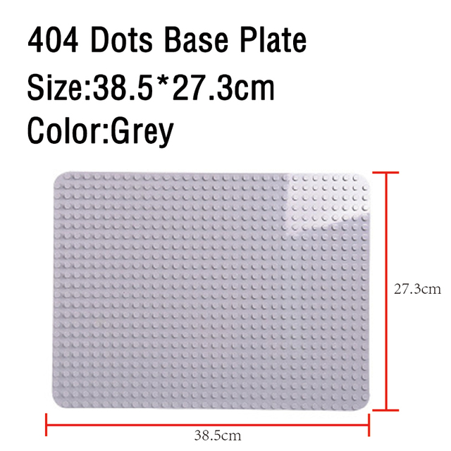 GOROCK Large Size Baseplate Big Base Plate 404 Dots Exlarge Brick Solid Plate Toys Compatible Legos Duploe Toys For Child Kid