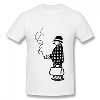 PEGGYNCO Brand DIY Cool Men Smoking Cotton T Shirts 2017 New T Shirt Man Cotton Short