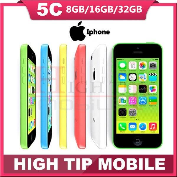 """bilder für Freigesetzte Ursprüngliche Apple iphone 5C telefon 8MP Kamera 16 GB 32 GB ROM IOS 8 4,0 """"Wifi GPS WCDMA 3G Freies Verschiffen Verwendet 1 jahr garantie"""