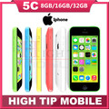 "Unlocked Original Apple iphone 5C phone 8MP Camera 16GB 32GB ROM IOS 8 4.0"" Wifi GPS WCDMA 3G Free Shipping Used 1 year warranty"