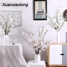 Xuanxiaotong 10pcs/set Goji Artificial Flowers Branch Home Party for Table Decoration Silk fleur artificielle