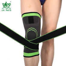Cn Herb Black And Green Riding Running Basketball Knee Brace Anti-skid Breathable Pads