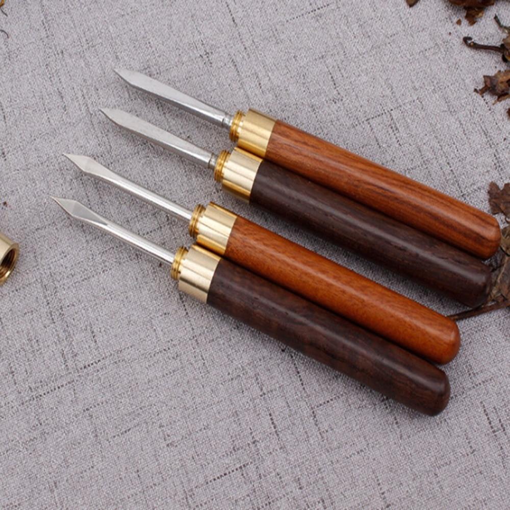 Chinese Pu-Erh Sandalwood Stainless Steel Tea Knife
