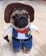 pet outfit pet dog cat cowboy costume stylish pet halloween clothing