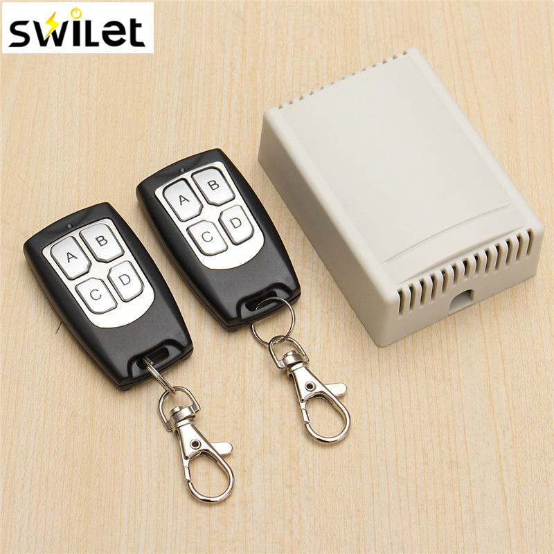 цена на 200M Wireless Remote Control Switch Transceiver 12V 3A 4CH Relay Switches With 2 Receiver Compatible With 2262 2260 1527