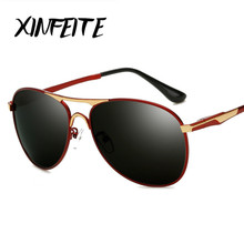 XINFEITE 2017 New Fashion Men Polarized Sunglasses Brand Designer Luxury High Quality Metal Frame Male Shadow Glasses Oculos