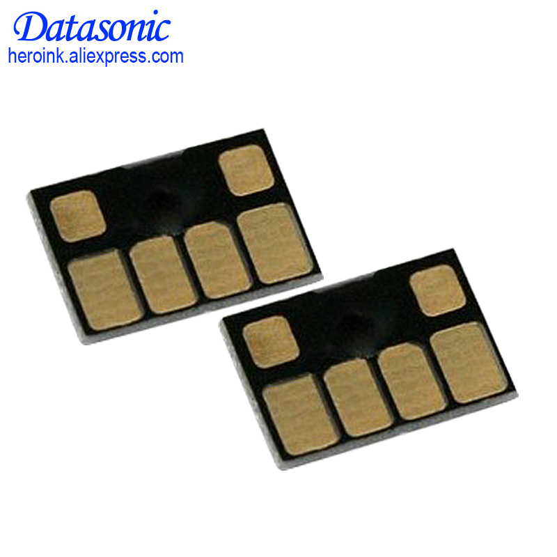 Datasonic 6Pcs Auto Reset <font><b>Chip</b></font> For <font><b>HP</b></font> <font><b>72</b></font> Cartridge <font><b>Chips</b></font> For <font><b>HP</b></font> Designjet T610 T620 T770 T790 T1120 T1200 T1300 Printer image