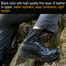 FREE SOLDIER outdoor sports tactical wear-resistant breathable boot  hiking camping shoes for men