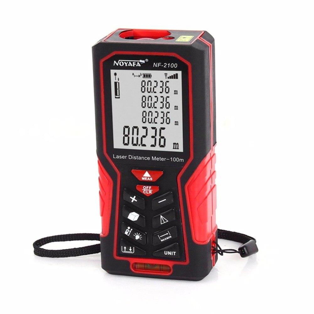 Noyafa NF-2100 Digital Distance Meter Handheld Laser Ruler Telemetre Medidor Tape Measure 100 Meters Rangefinder тестер noyafa nf 704