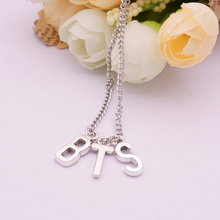 K-pop Bts Bangtan Boys Letter Pendant BTS Necklace Men Women Boy Girl Jimin Jewelry Accessories