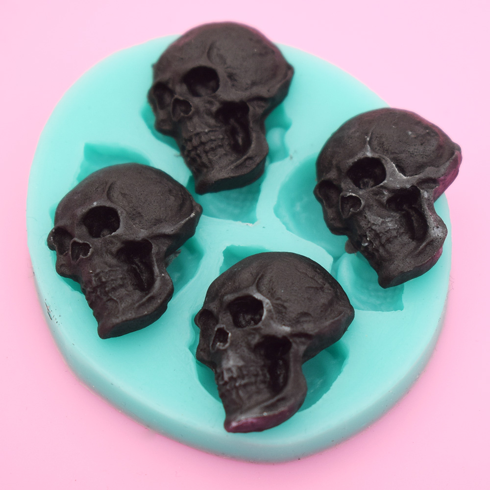 Aliexpress.com : Buy 3D Skull Head Chocolate Molds Embossed Silicone Cake Mold Biscuits Fondant