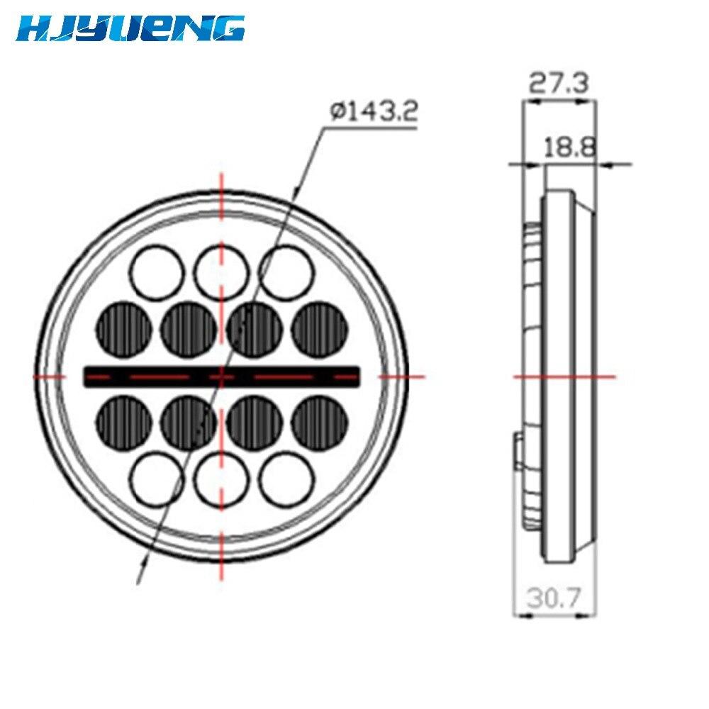 LED headlight projector daymaker for HONDA VTX 1300 1800 5.75in ...