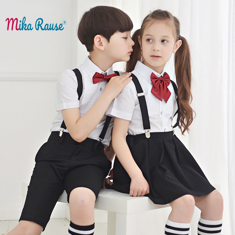 Formal School kids clothes sets boys clothes dress sets student pupils costume performance primary uniform chorus girls clothing