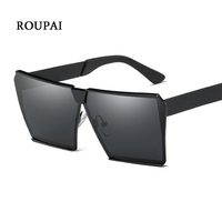 ROUPAI Eyewear Vintage Retro Unisex Sunglasses Women Men Sun Glasses Polarized Square Oversized Hexagon Sunglasses Brand
