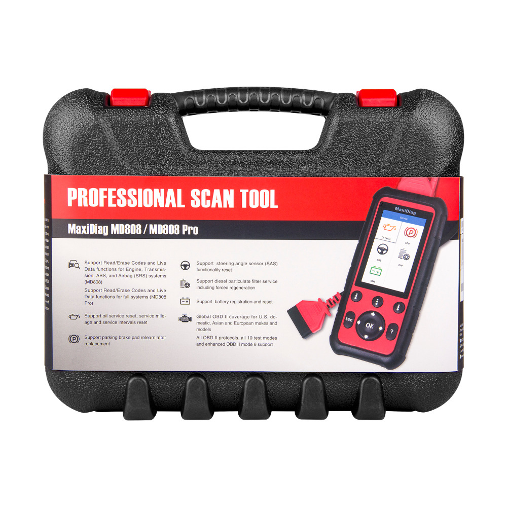 Image 5 - Autel Maxidiag MD808 PRO OBD2 Auto Scanner Diagnostic Tool OBD 2 Car Diagnostic Scanner scania Automotivo Automotriz Scan Tool-in Code Readers & Scan Tools from Automobiles & Motorcycles
