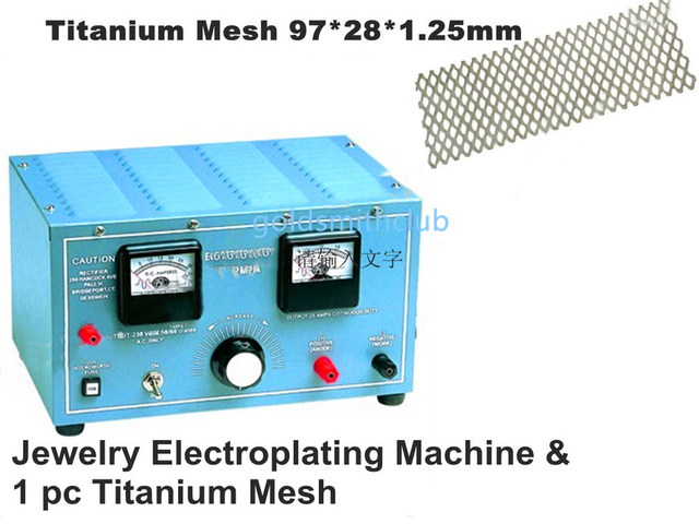 Jewelry Electroplating machine With One piece Titanium Mesh , Jewelry plating machine , jewelry rectifier 20V, 30AMP