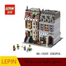 DHL LEPIN 15009 Pet Shop Supermercado Modelo Compatible con legoed Calle de La Ciudad Bloques de Construcción 10218 Juguetes