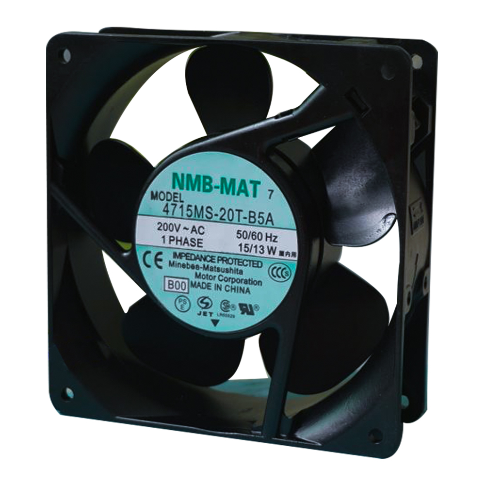 New NMB-MAT 12038 200V 50/60Hz 15/13W 4715MS-20T-B5A Fan