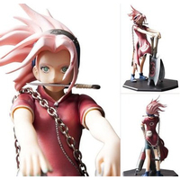Naruto Haruno Sakura Sakura Wake Up Writing Round Eyes Boxed Figure Crafts Collection Ornaments Kids Toys Gifts