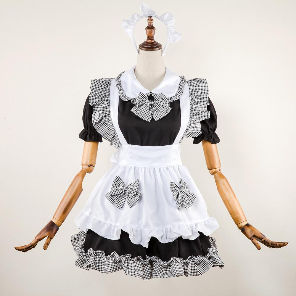 Japan Anime Girl Cute Maid Costume High School Student Outfit  Cosplay Fance Dress