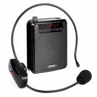Wireless Portable Voice Amplifier Loudspeaker FM Radio Music Player Power Bank For Teacher Training Wireless Microphone Y4428