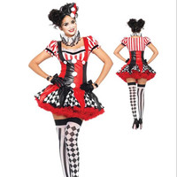 2017 Suicide Squad Harley Quinn Costume Women Adult Clown Circus JOKER Cosplay Cosplay Carnival Halloween Costumes