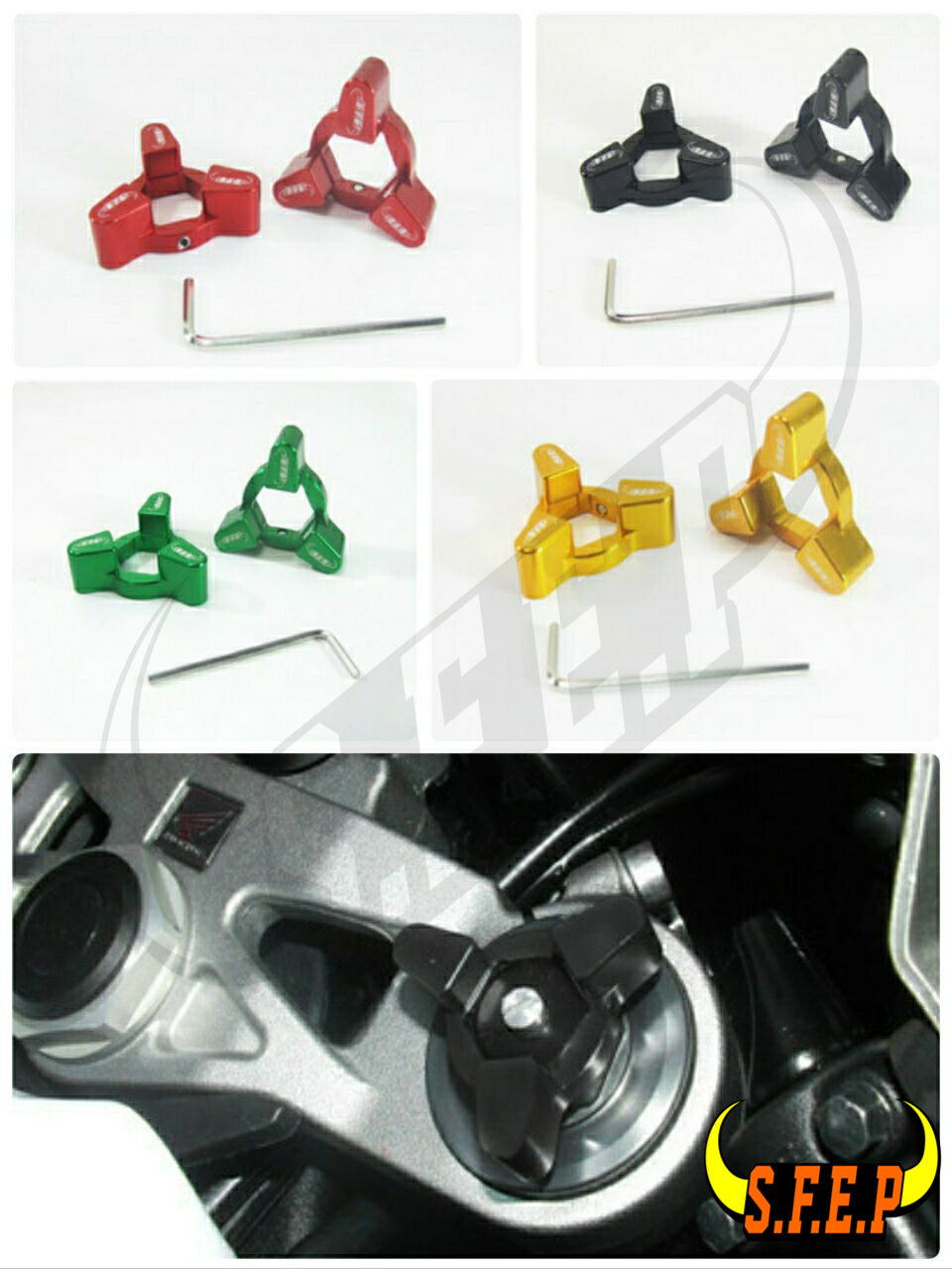 Motorcycle CNC Fork Preload Adjusters For Honda CBR 929RR 00-01/ CBR 600RR 05-06/ CBR 954RR 02-03/ RC 51 00-06/ CBR1000RR 04-07
