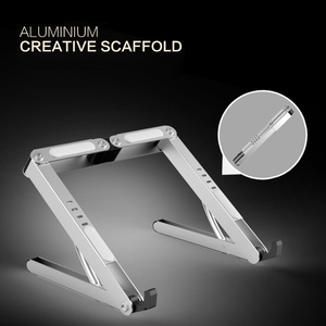 Image 5 - 11 to 15.6 inch Foldable Laptop Stand For Macbook Lenovo Dell Asus HP Portable Notebook Stand Holder Lapdesk Cooling Bracket