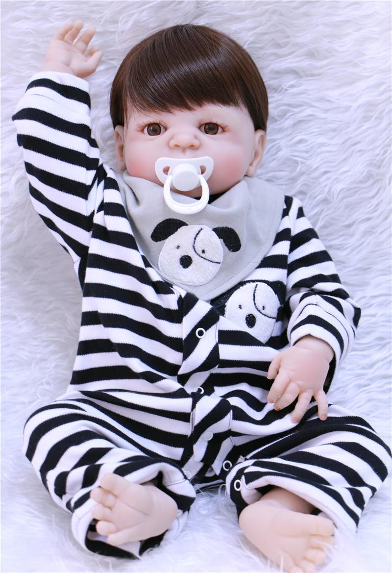 55 cm bebe garçon rebon corps complet Silicone Reborn bébé poupée jouets nouveau-né fille bébé poupée cadeau de noël cadeau d'anniversaire jouet de bain