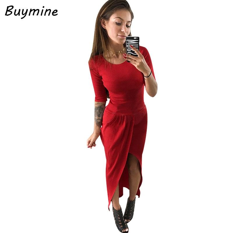 Front High Split Women Maxi Dress Fashion Pleated Autumn